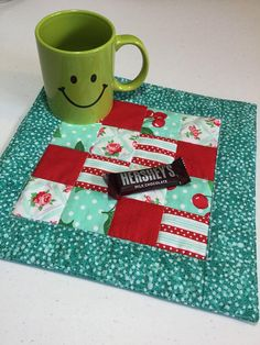 Hey, I found this really awesome Etsy listing at https://www.etsy.com/ca/listing/530669336/quilted-mug-rug-quilted-snack-mat