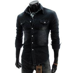 Slim Fit Denim Cotton Shirt.