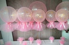 Home Decor Living Room Pink and Gold Confetti Tulle Balloons.Home Decor Living Room Pink and Gold Confetti Tulle Balloons Pink Und Gold, Rose Gold, Baby Sprinkle, Shower Party, Baby Shower Parties, Diy Shower, Shower Favors, Gold Shower, Shower Games