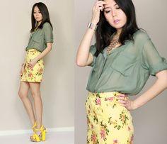 ✿ Summer Floral Skirt ✿ (by Aliya Akhmedeeva) http://lookbook.nu/look/3491093-Summer-Floral-Skirt