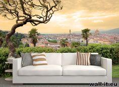 Fototapeta panorama miasta o zachodzie słońca. http://www.wall-it.eu/product/photowallpapers/architektura/fototapeta%20mural%20wallpaper%20italy%20florence%20landscape%20natura.jpg #fototapeta #fototapety #mural #murals #aranzacja #panorama #city #miasto