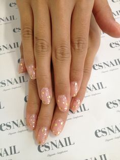 gold dot nail