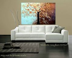 ORIGINAL Large gallery wrap canvasContemporary palette by artmod, $199.99