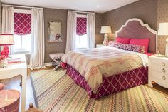 Transitional Home Decor – How Do You Select Accessories For a Room Designed in the Transitional StylE – Transitional Decor Pink And Grey Wallpaper, Childrens Room, Girls Room Design, Feminine Bedroom, Transitional Home Decor, How To Dress A Bed, New York Homes, Teen Girl Bedrooms, Dream Bedroom