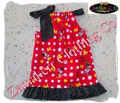 CUSTOM BOUTIQUE Minnie Mouse Girl Dress by ZamakerrClothingCo