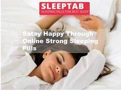 Satay Happy Through Online Strong Sleeping Pills #medicines #insomnia #health