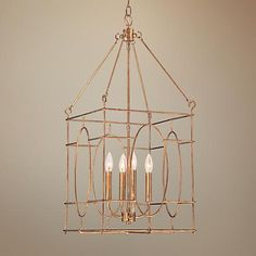 "Quoizel 14 1/2"" Wide Warm Gold Foyer Lantern Pendant"