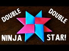 So it seems most people wanted to see the Double paper Ninja Star (Shuriken), or the DIST-8.  So here's the tutorial.  BUT I DID THE HEART TOO!!! :-) Click This Link!!!  http://www.youtube.com/watch?v=aEjGNo1C8cQ=list_related=1=SP4233A6440287E5CA    In this tutorial, I explain how to first make two Single-Sided Ninja Stars, wh...