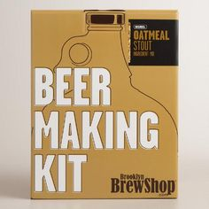 One of my favorite discoveries at WorldMarket.com: Oatmeal Stout Beer Making Kit