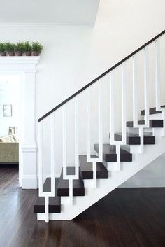 Image result for contemporary stair banister wood