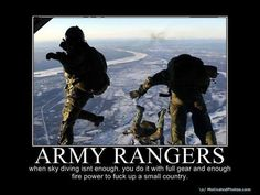 Excuse the language. Army Humor, Military Humor, Military Wife, Military Personnel, Special Forces, Special Ops, Ranger School, Airborne Ranger, Military Motivation