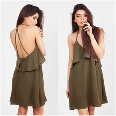 Khaki Dress, Love Clothing, Dress P, Cold Shoulder Dress, Clothes, Fashion, Tall Clothing, Moda, Fashion Styles