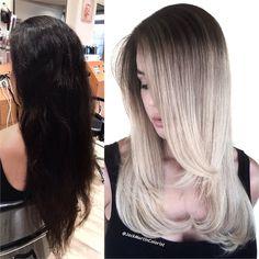 MAKEOVER: Dark Brown To Silver Blonde Melt - GORGEOUS! - Hair Color - Modern Salon