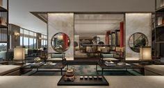 [MGM] CCD-German Frankfurt Diaoyutai HD renderings + lobby concept 246M 6310055 Chinese Interior, Asian Interior, Japanese Interior, Interior Styling, Interior Design, Chinese Tea Room, Hotel Concept, Showroom Design, Lobby Design