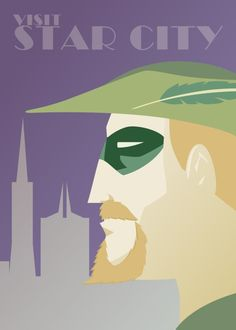 Green Arrow - DC Comics Superhero Travel Posters