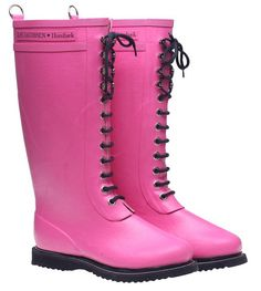 http://www.splendidavenue.com - Image of Ilse Jacobsen Rubber Boots - Tall, Pink $199