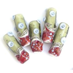 Retro - Lampwork Glass Bead Set