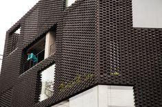 poroscape byyounghan chung + studio archiholic, in Seoul, Korea: The magnificent textures of brick!