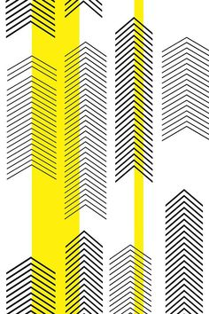 chevron stripe in yellow by cristinapires - Black arrows on a white background with bold yellow stripes on fabric, wallpaper, and gift wrap. Print Wallpaper, Pattern Wallpaper, Iphone Wallpaper, Fabric Wallpaper, Yellow Stripes, Yellow Chevron, Yellow Black, Yellow Pattern, Black White Pattern