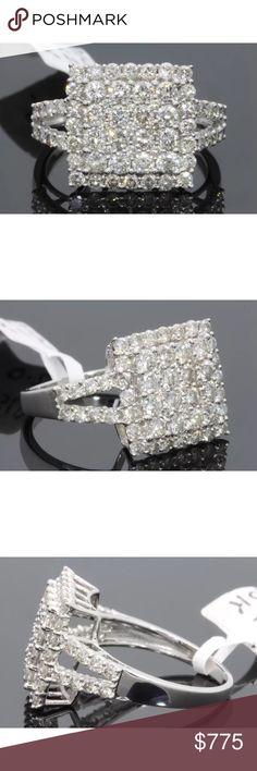 Stunning 2 carat 10k white gold diamond ring Stunning 2 carat 10k white gold diamond ring Jewelry Rings