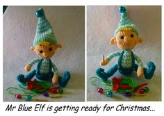 Crochet Blue Elf Christmas Pattern