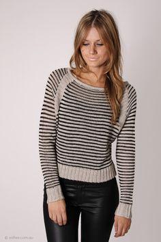 million striped knit - grey/black