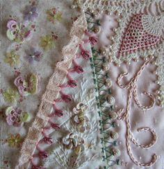 I ❤ crazy quilting . . . CQEurope My work for Helga. By Margreet from Holland