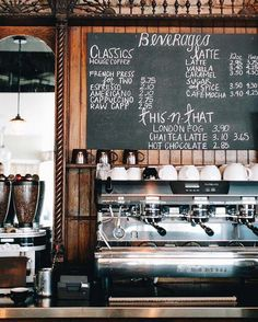 Our Fixer Upper: Coffee Shop Inspo — Miss Molly Vintage Unser Fixiereroberteil: Coffee Shop Inspo – Miss Molly Vintage Bar Design Awards, Coffee Shop Design, Cafe Design, My Coffee Shop, Design Design, Design Ideas, Coffee Drinks, Coffee Cups, Coffee Jello
