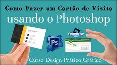 Como Fazer um Cartão de Visita no Photoshop   Aula Gratuita Curso Design...