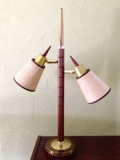 Atomic Articulating Double-shade Table Lamp - Mid-Century Modern