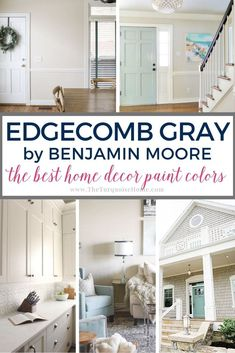 If you are looking for a stunning greige for your living room, then you should really consider using Edgecomb Gray from the Benjamin Moore collection! Living Room Decor Furniture, Affordable Home Decor, Living Room Colors, Home Goods, Favorite Paint Colors, Edgecomb Gray, Living Room Paint, Grey Paint, Bedroom Wall Colors