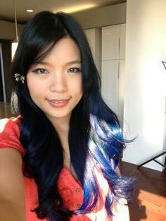 Black to blue ombre. I love this!!