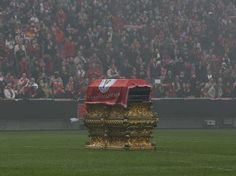 Football is bigger than life | Eusebio's funeral in Estádio da Luz #Benfica #Portugal