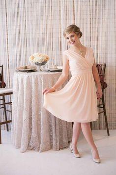 Aria peach bridesmaids dress from Lily & Iris Salt Lake City