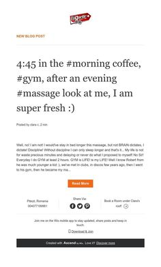 New Blog Post Online Personal Trainer, Stay In Bed, Easy Workouts, News Blog, Morning Coffee, Massage, Gym, Life, Easy Fitness