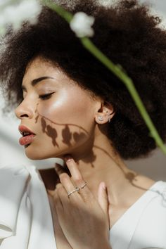 Striking Contrast Sets the Tone in This Minimalist Greenhouse Bridal Shoot for a Modern and Strong Bridal Aesthetic - Once Wed