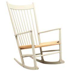 Light Gray Hans Wegner For FDB Møbler J16 Model Rocking Chair, 1962