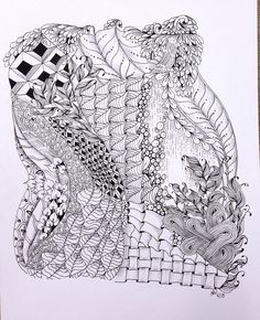 Zentangle (ZIA) done with Micron pen.
