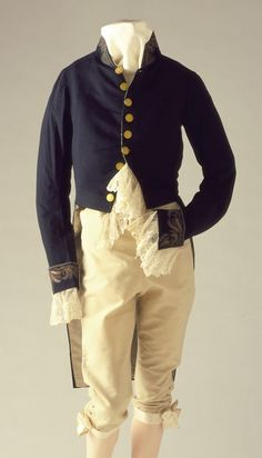 Man's Military Uniform, ca. 1830, American, wool and flannel