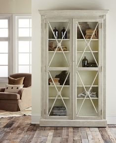 Our Swedish Two Door Bookcase displays your belongings in comfortable style.