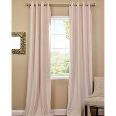 @Overstock - Luxurious and understated, this elegant blackout curtain panel ensures privacy without sacrificing style. Crafted from rich, ivory-colored velvet, each panel features a lining that blocks the light completely, so you can sleep undisturbed.http://www.overstock.com/Home-Garden/Ivory-Grommet-Velvet-Blackout-Curtain-Panel/6778043/product.html?CID=214117 $89.99