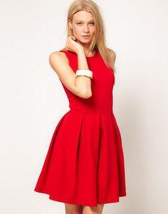 ShopStyle: Oasis Red Skater Dress