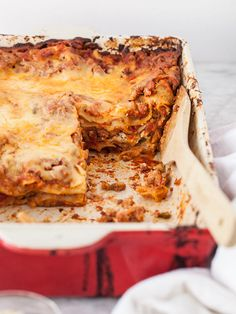 Sausage and Ricotta Lasagna is the ultimate comfort food dinner