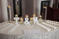 Ivory Sparkle Overlay on the Placecard table (Also available in White)
