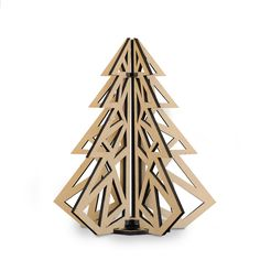 This modern christmas tree has enough holiday cheer to fill up a space—without the burdens of actually having to. The smart design makes it a snap to assemble, and once the holidays are over, it's easily taken apart and flat packed for next year. $35