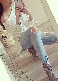 Kup mój przedmiot na #vintedpl http://www.vinted.pl/damska-odziez/bluzki-z-dlugimi-rekawami/12386403-asymetryczna-biala-bluzka-nowa