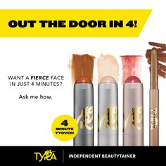Get your Fierce on! 4 minute TyOver and you are out the door! Check out Tyra Banks' BRAND NEW makeup line at www.Tyra.com/AmberCole
