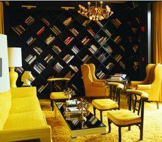 books as decor [love]  Always amazing!