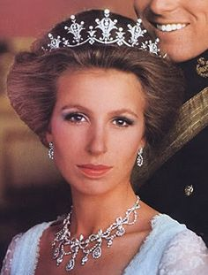 Princess Anne, the Princess Royal in her Festoon Diamond Tiara.