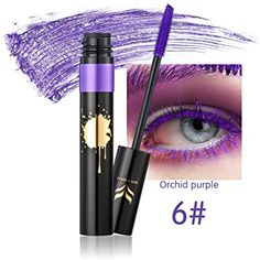 Kazora 8 Colors Mascara Colorful Eyelash Makeup Lash Eyelashes Foundation Waterproof Anti-sweat (6 #Mascara